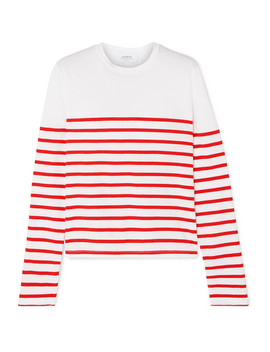 Lean Lines Striped Cotton Jersey Top by La Ligne