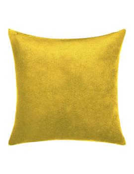 John Lewis & Partners Velvet Cushion, Saffron by John Lewis & Partners