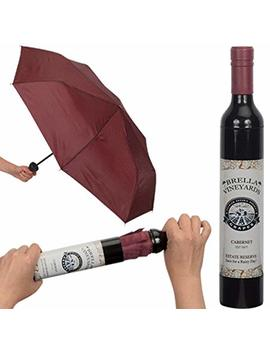 Playmaker Toys Brella Vineyards Cabernet Wine Bottle Hidden Umbrella, Burgundy by Playmaker Toys