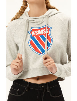 K Swiss Grind Cropped Hoodie by Pacsun