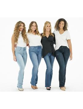 "Laurie Felt Curve Silky Denim Boot Cut Jeans   ""Medium"" by Qvc"
