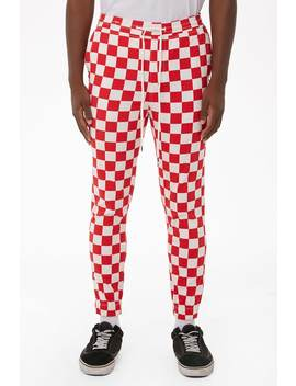 elwood-twill-checkered-joggers by forever-21