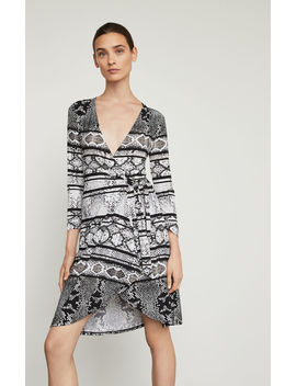 Adele Snake Print Wrap Dress by Bcbgmaxazria