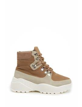 Lace Up Sneaker Boots by Forever 21