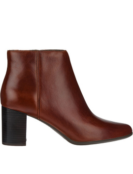 Rockport Total Motion Leather Ankle Booties   Lynix by Qvc