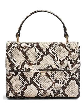 Mini Marissa Snake Embossed Top Handle Bag by Topshop