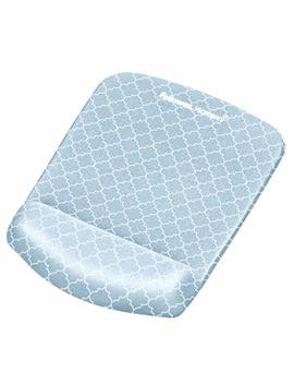 Fellowes Plush Touch Mouse Pad/Wrist Rest With Foam Fusion Technology, Gray Lattice (9549701) by Fellowes