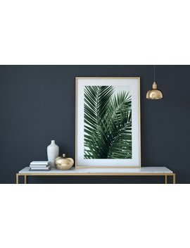 Palm Leaves, Palm Print, Tropical Home Decor, Tropical Leaves, Living Room Decor, Living Room Art, Tropical Wall Art, Tropical Art Prints by Etsy