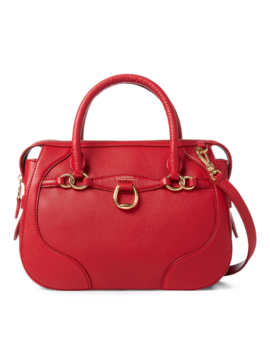 Leather Small Satchel by Ralph Lauren