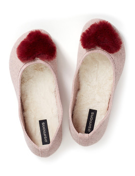 Cozy Heart Ballerina Slippers by Miiyu