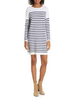 Breton Stripe Cashmere Sweater Dress by Allude