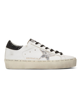 Ssense Exclusive White Saturday Hi Star Sneakers by Golden Goose