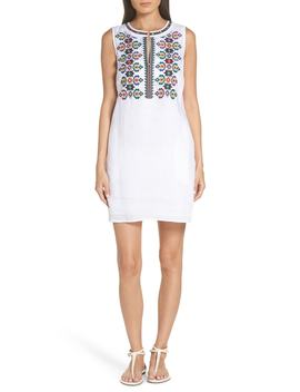 Embroidered Linen Dress by Tory Burch