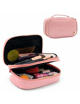 Makeup Bag Small Travel Cosmetic Bag For Women Girls Pencil Pouch Pen Case Makeup Brushes Bag Portable 2 Layer Cosmetic Case With Brush Organizer Christmas... by Relavel