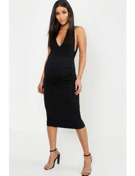 Maternity Over The Bump Hold In Midi Skirt by Boohoo