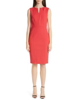 Stretch Double Weave Dress by St. John Collection