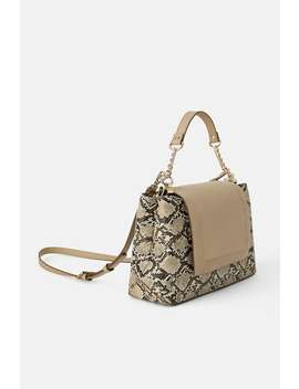 Animal Print Crossbody Bag With Leather Flap  Shoes by Zara