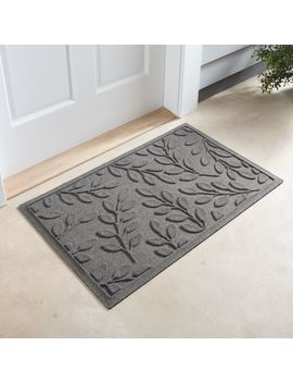 Thirsty Leaves Light Grey Doormat by Crate&Barrel