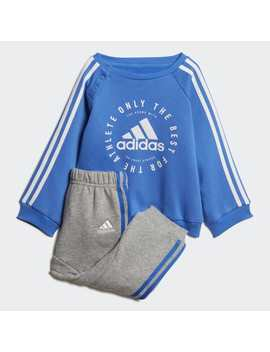 Fleece 3 Stripes Jogger Set by Adidas