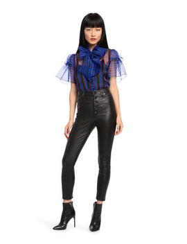 Talulah Tie Neck Blouse by Alice And Olivia