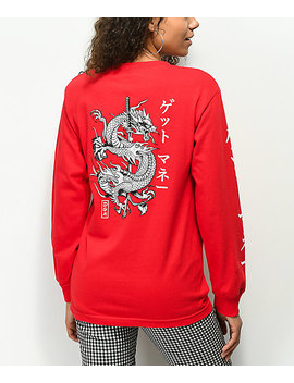 Dgk Money Red Long Sleeve T Shirt by Dgk