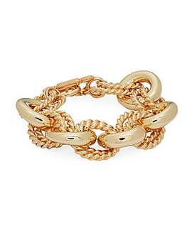 18 K Goldplated Link Bracelet by Rivka Friedman
