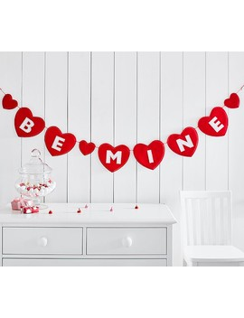 """Be Mine "" Heart Garland by Pottery Barn Kids"