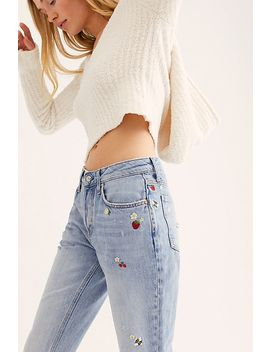 Embroidered Fruit Jeans by Free People