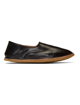Black Crush Back Loafers by Dries Van Noten
