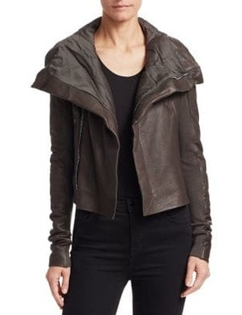 Leather Biker Jacket by Rick Owens