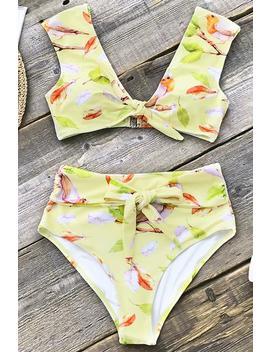 Oriole Chant Bowknot Bikini by Cupshe
