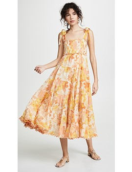 Primrose Crinkle Tie Dress by Zimmermann