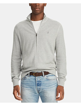 Men's Full Zip Cotton Sweater by Polo Ralph Lauren
