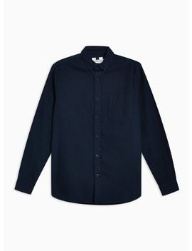 Navy Twill Slim Shirt by Topman