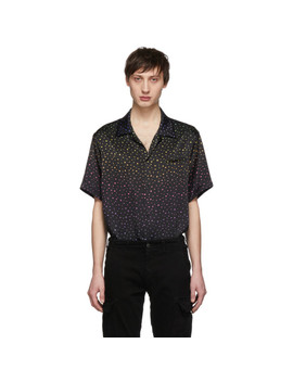 Black Rainbow Dotted Shirt by Amiri