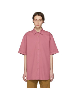 Pink Oversized Compton Shirt by Dries Van Noten