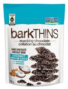 Bark Thins Dark Chocolate, Coconut With Almonds, 150 Gram by Amazon