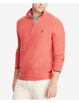 Mesh Cotton Half Zip Sweater by Polo Ralph Lauren