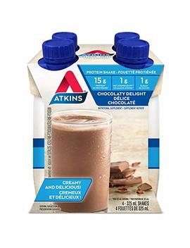 Atkins Advantage Shakes, Milk Chocolate Delight, 4 Count by Amazon