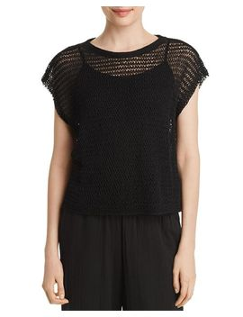 Open Knit Cropped Top by Eileen Fisher