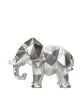 "Mainstays 6.5""High Tabletop Resin Geometric Elephant, Silver Finish by Mainstays"