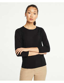 Petite Lace Applique Sweater by Ann Taylor