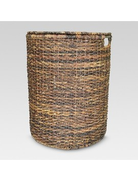 "25""X13""X20"" Wicker Hamper   Dark Global Brown   Threshold™ by Threshold"