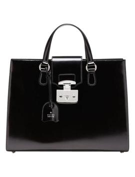 Lock Suitcase Satchel by Gucci