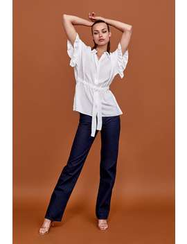 Shirt With Ruffles And Bow  View All Shirts by Zara