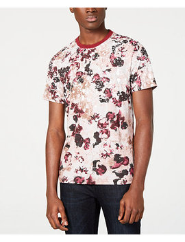 I.N.C. Men's Floral Graphic T Shirt, Created For Macy's by Inc International Concepts