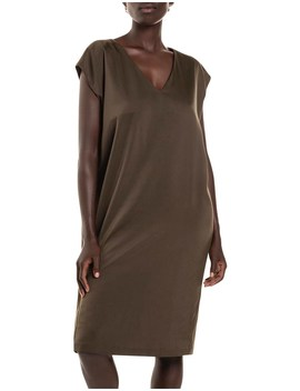 Satin V Dress by Studio.W