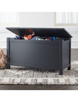 I'm Just A Charcoal Wooden Toy Box by Crate&Barrel