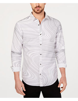 I.N.C. Men's Swirl Print Shirt, Created For Macy's by Inc International Concepts