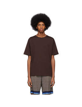 Brown Hob T Shirt by Dries Van Noten